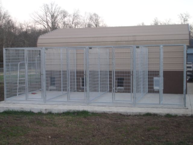 kennel from carport could totally do this is as separate
