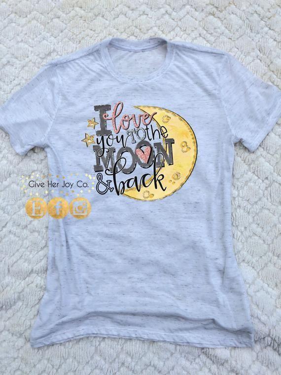 Ich liebe dich zum Mond und zum hinteren Hemd ValentinstagHemd ValentinsgrußTShirt niedliche Valentinsgrüße Wom  Products