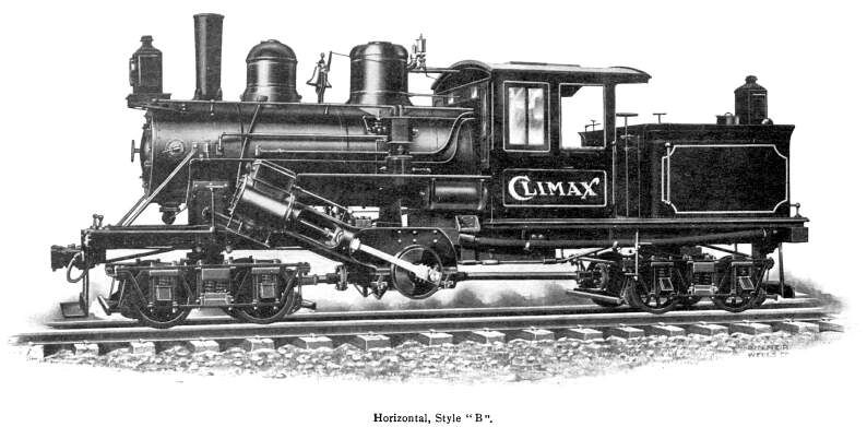 The Climax Geared Locomotive Steam Locomotive Locomotive Steam