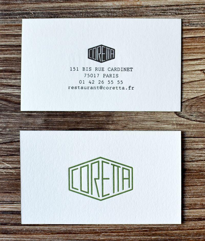 carte de visite paris Restaurant Coretta : pépite bistronomique (avec images) | Carte de