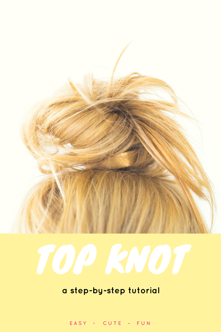 Learn A Hairstyle Top Knot Bun Hairstyle In Under A Minute Easy