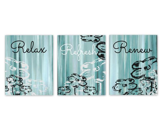 Aqua Wall Decor bathroom wall decor, teal bathroom decor, aqua bathroom art