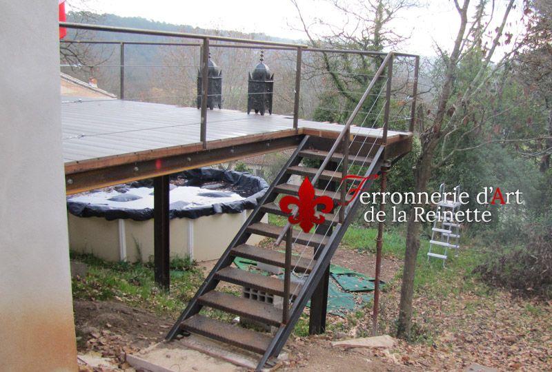 Résultat de recherche d\u0027images pour \ - terrasse sur pilotis metal