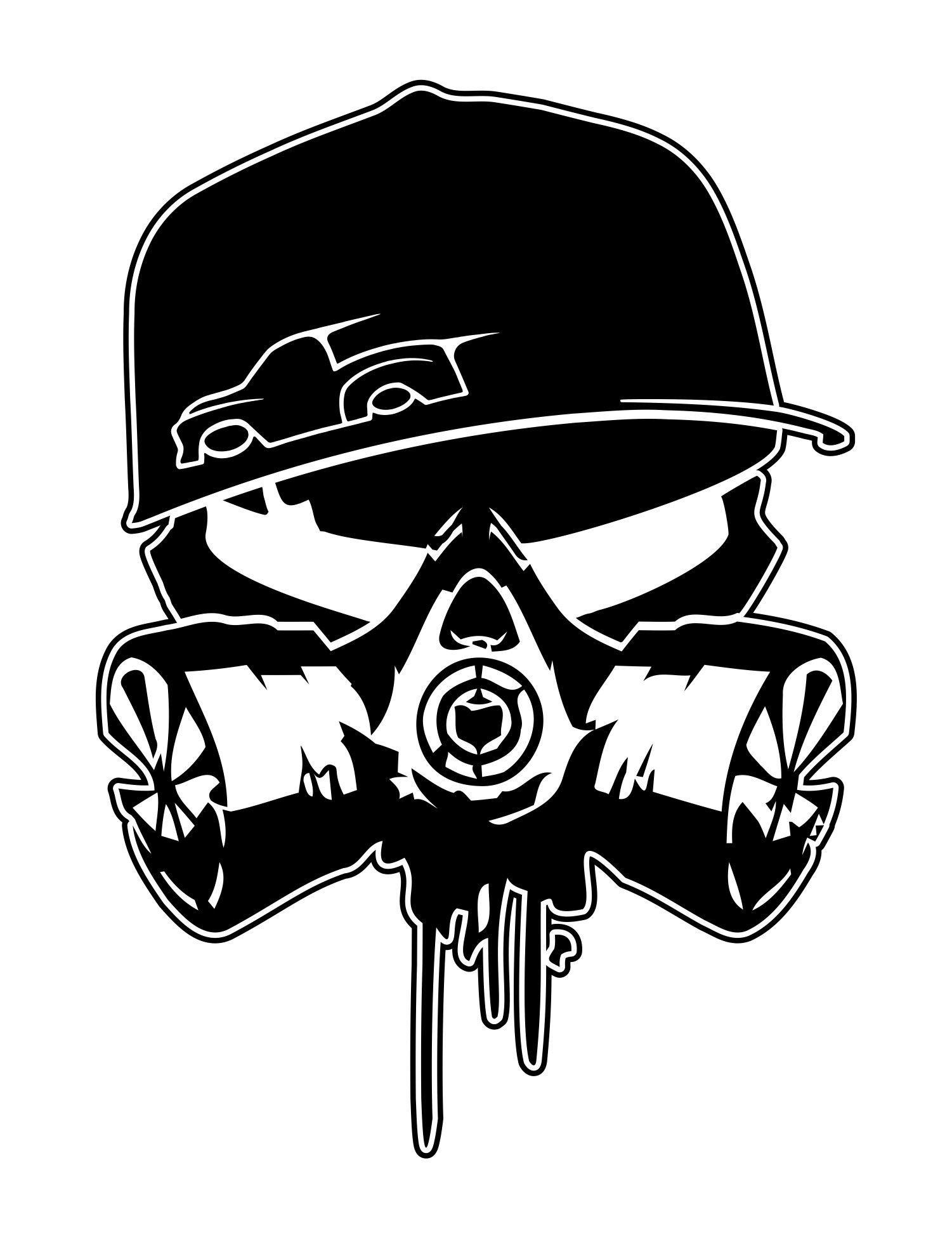 Bodydropt Skull Gas Mask Art Graffiti Drawing Skulls Drawing