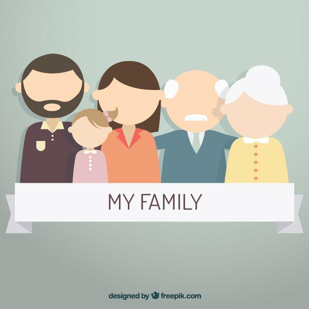 my family Premium Vector