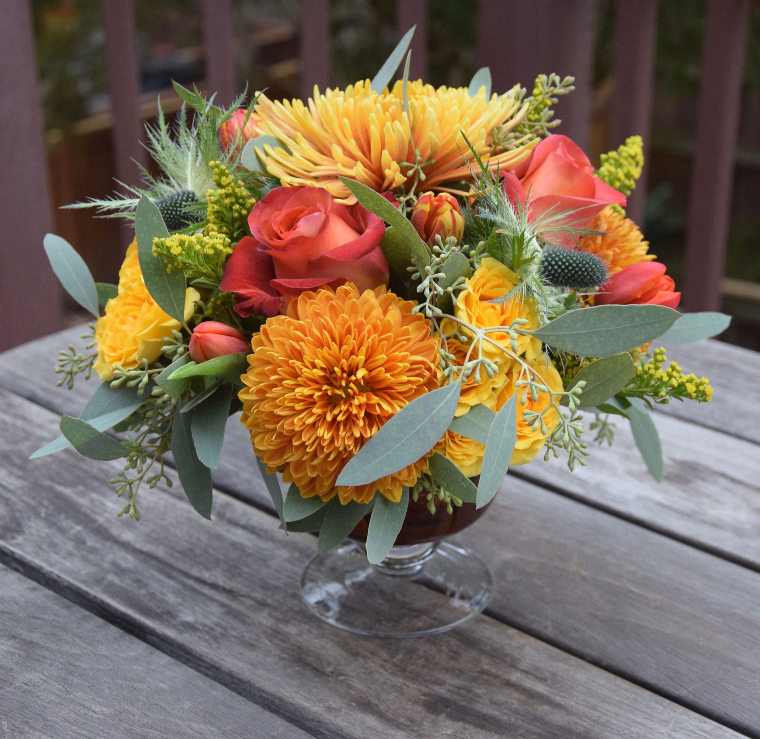 Thanksgiving centerpiece handcrafted by Fleurelity