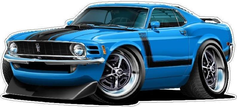 70s Cars 70s Classic Car 1970 Ford Mustang Boss 302 Wall Decal Vintage Car Etsy En 2020 Dibujos De Coches Autos Coches