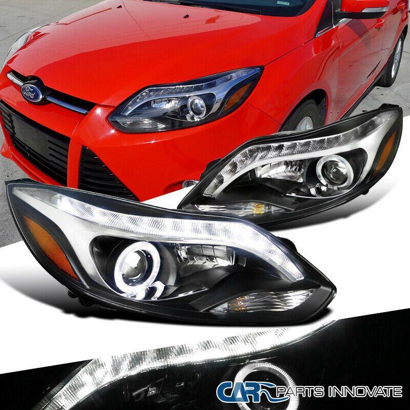 Ad Ebay 12 14 Ford Focus Black Halo Projector Headlights Head