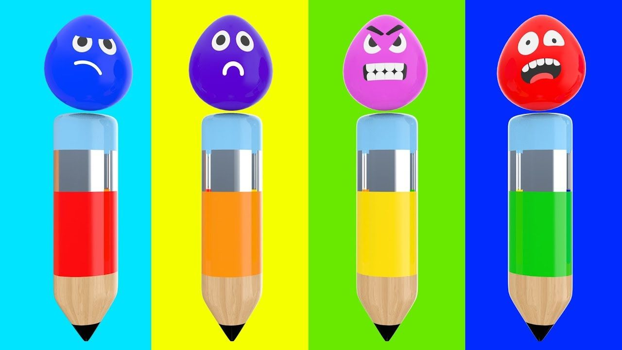 Learn Colors with Wrong Head Faces Color Crayons 3D Cartoon Videos ...