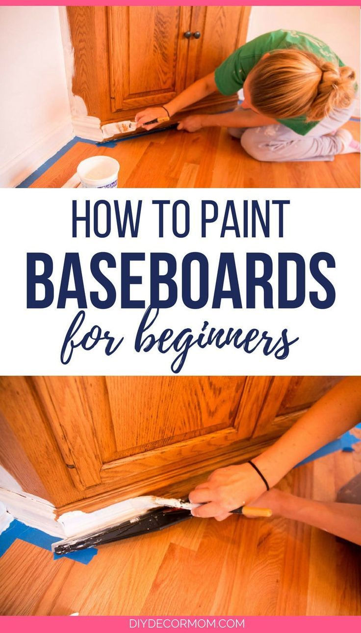 Heres the best tutorial on how to paint your baseboards