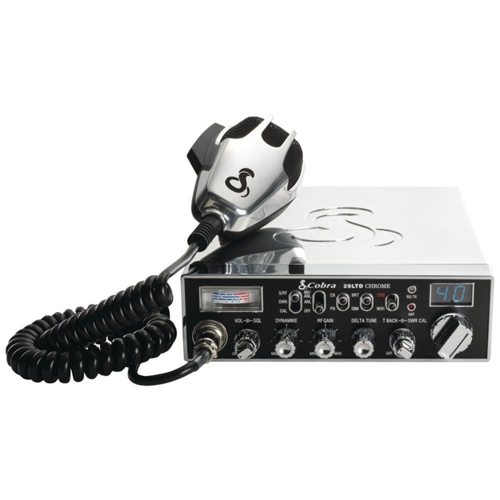 Cobra Electronics Fully Chrome-plated 29 Ltd Classic Cb Radio With ...