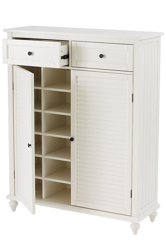 $399 also comes in distressed gray Hamilton Shoe Storage Cabinet ...