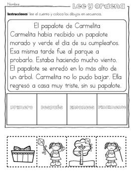 pr ctica de secuencias con dibujos gratis spanish resources for k 1 spanish worksheets. Black Bedroom Furniture Sets. Home Design Ideas