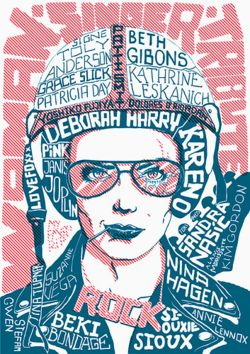 Female Rock Singers, Hand-Made Typography (by Stana Tomsej)