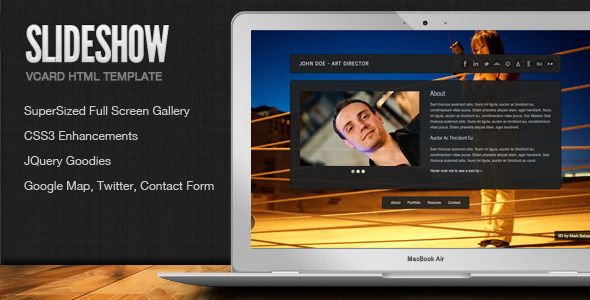 Slideshow Stylish Online Vcard Html Template Website Templates