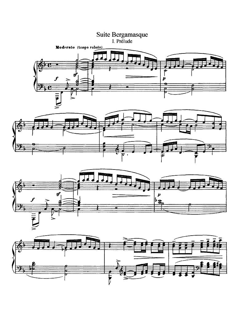 Suite bergamasque (Debussy, Claude) - IMSLP/Petrucci Music Library