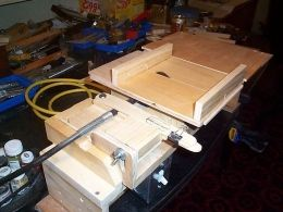 Mini Table Saw Homemade Mini Table Saw Featuring A Blade Height Adjustment Mechanism Powered By A Rotary Tool Via Mini Table Table Saw Table Saw Accessories