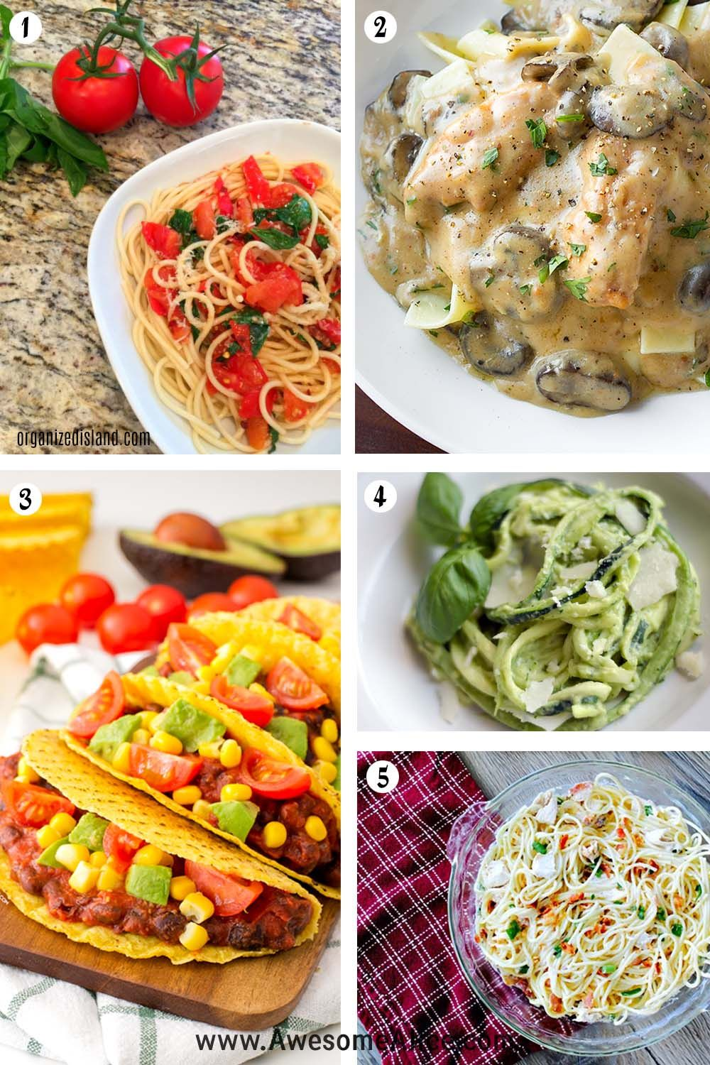 healthy 15-minute dinner recipes | quick and easy dinner ideas