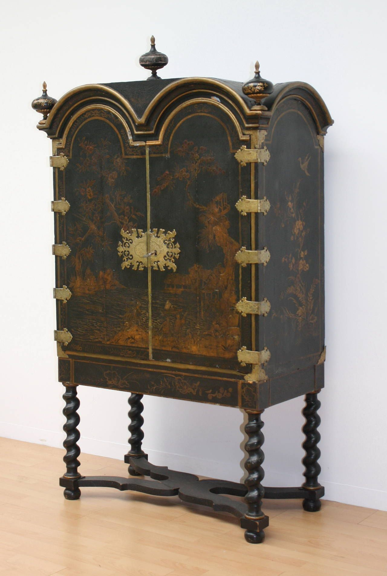 18th Century Chinoiserie Cabinet on Stand | From a unique collection of antique and modern cabinets at https://www.1stdibs.com/furniture/storage-case-pieces/cabinets/