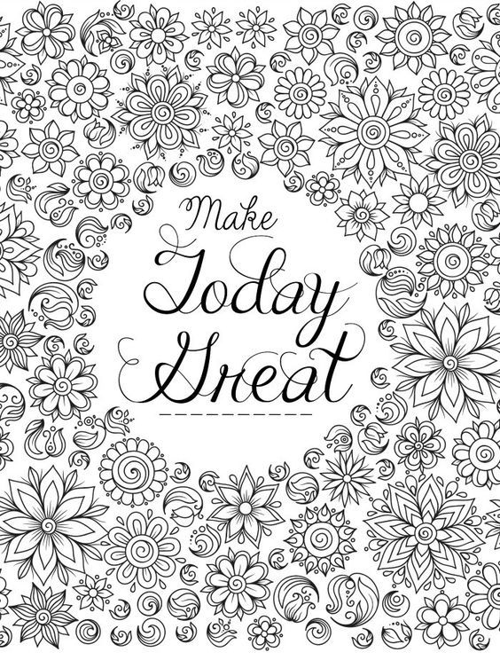 flower coloring page for adults | 1 LB Project | Pinterest