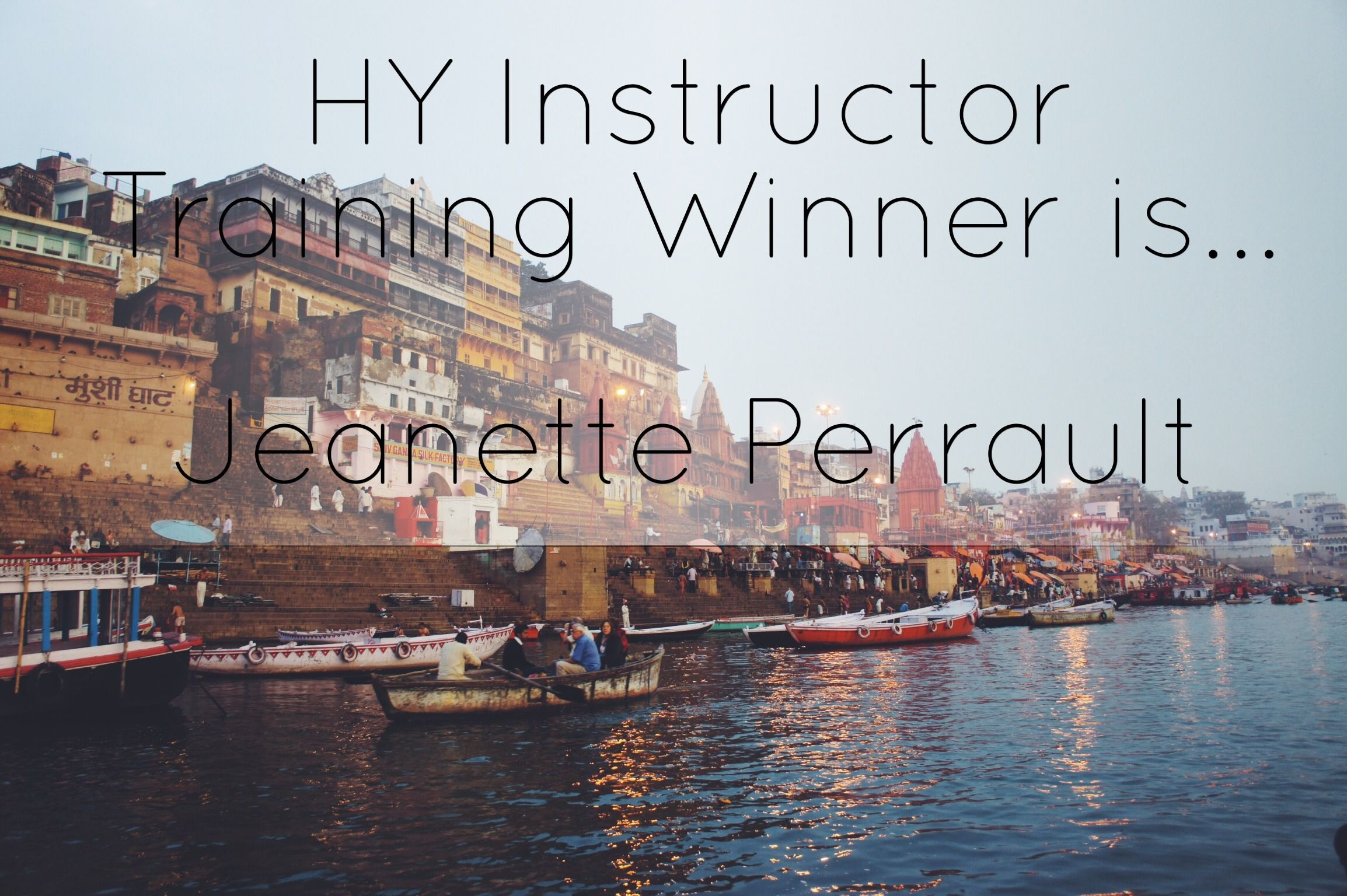 Congratulations Jeanette Perrault, you are the winner of the Holy Yoga Instructor Training!!  Allison La Bianca will email you more details.   Thanks to all who so generously gave. Each of you helped bring us to our next big milestone, over $30,000!
