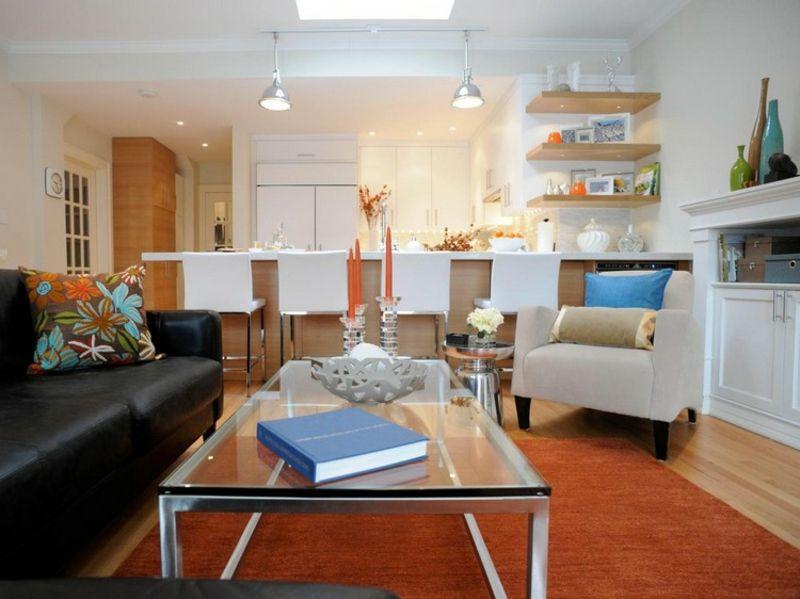 Wohnküche modern und praktisch gestalten u2013 40 tolle Einrichtungsideen - wohnzimmer mit offener küche gestalten