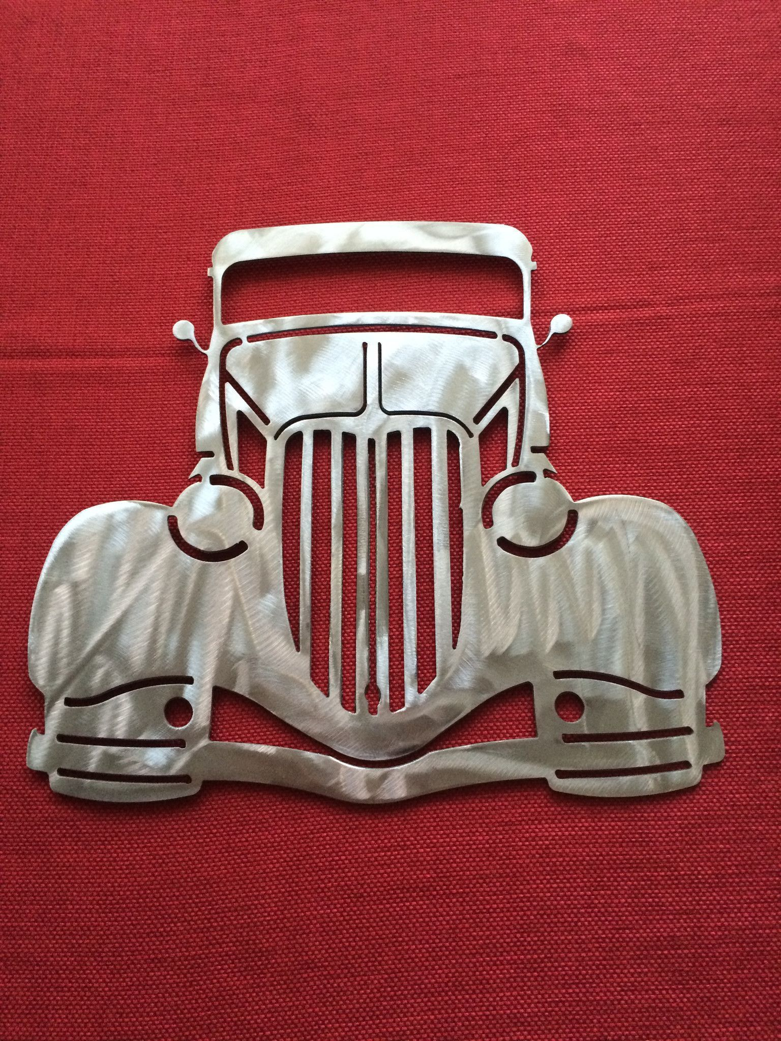 Dodge Chevy Ford Metal Wall : 36 Chevy Coupe Front End Metal Art