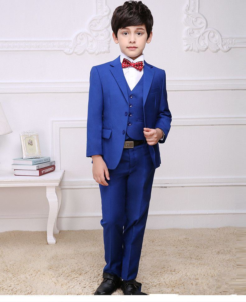 5fbab7281e28 Cheap Trajes de los niños para Las Bodas Nuevos Muchachos de La Manera  Blazers Niños Del Muchacho Azul traje de Bodas de Fiesta Formal Vestido de  Novia ...