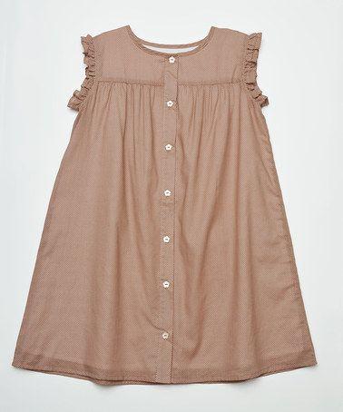 Loving this Barley Dot Babydoll Dress by Olive Juice