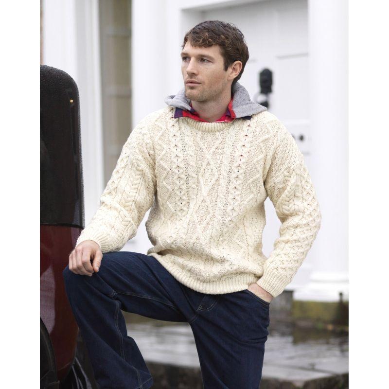 Machine Washable Merino Wool Diamond Sweater