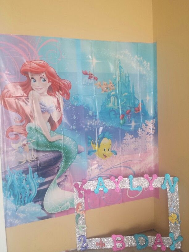 Mermaid Photo booth & Diy frame prop | Under the Sea - Little ...