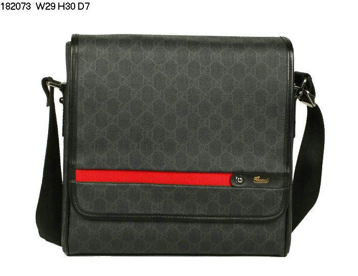 2d0bf5c93271 Cheap Gucci 182073 New Mens Messenger Bag Black For Sale $189.00 ...