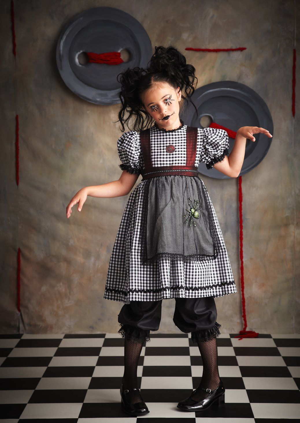 Gothic+Rag+Doll+Kids+Costume from Rag