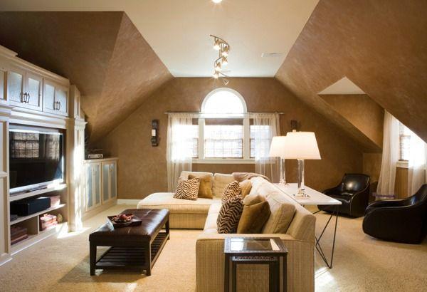 How To Decorate Slanted Ceilings Bonus Room Decorating Bonus