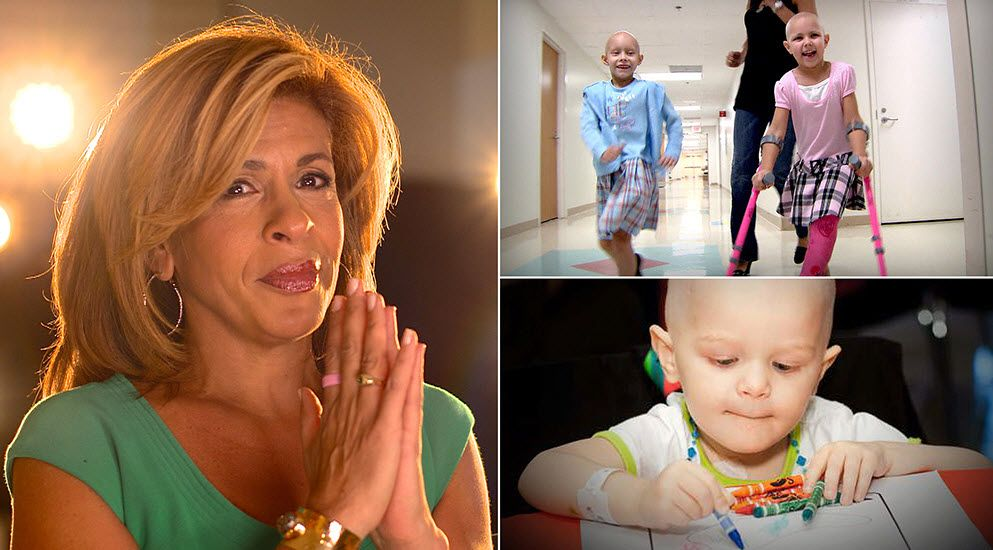 Text to donate to pediatric cancer with Hoda's Shine a Light