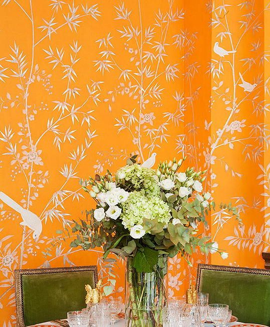 Chinoiserie Wallpaper, Hand Painted Chinoiserie Wallpaper
