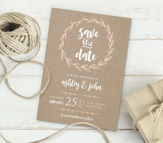 Printable Save The Date Instant Download Editable Template Diy