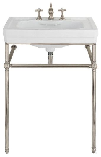 Lutezia 28 Inch Console Lavatory Sink By Porcher   Traditional   Bathroom  Sinks   Vintage Tub