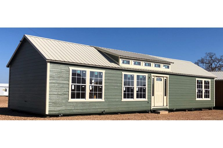 16 X 50 Two Bedroom Cabin 800 Sq Ft Includes All Appliances And You Can Customize All Finishes Portable Buildings Tiny House Cabin Shed Homes