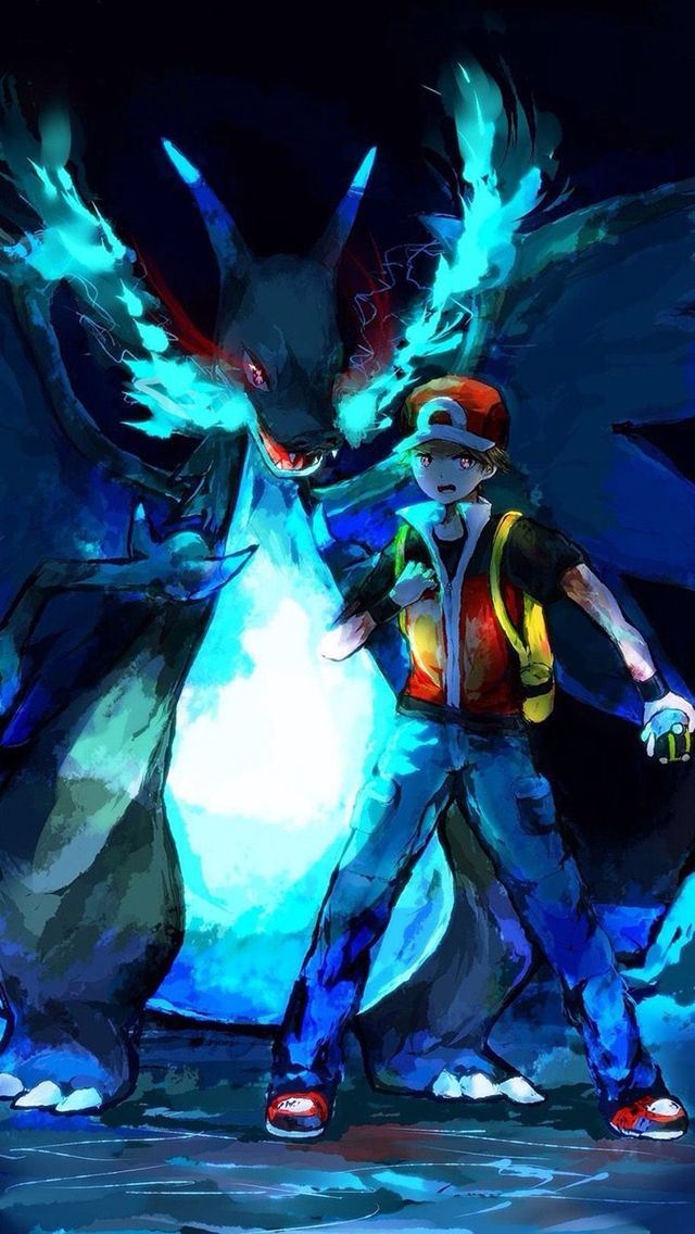 Pokemon Trainer Red. 12 Pokemon Trainers Wallpapers for iPhone. - @mobile9 #pokemon #anime ...