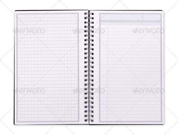 Blank Spiral Notebook binder, blank, book, diary, document - graph paper word document