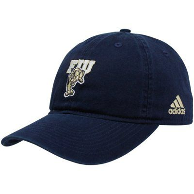 Adidas FIU Panthers Navy Blue Basic Logo Slouch Adjustable Hat ... 99eb2ea13b70