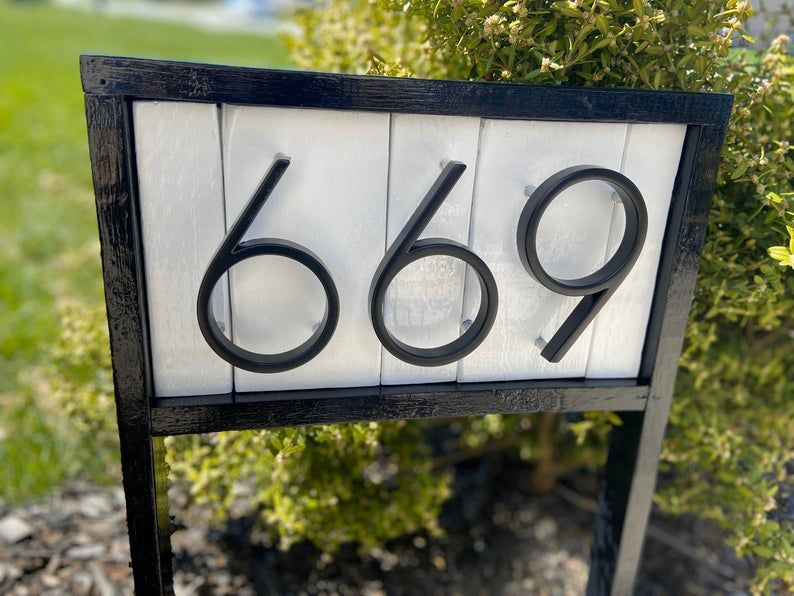 house number signs for yard etsy
