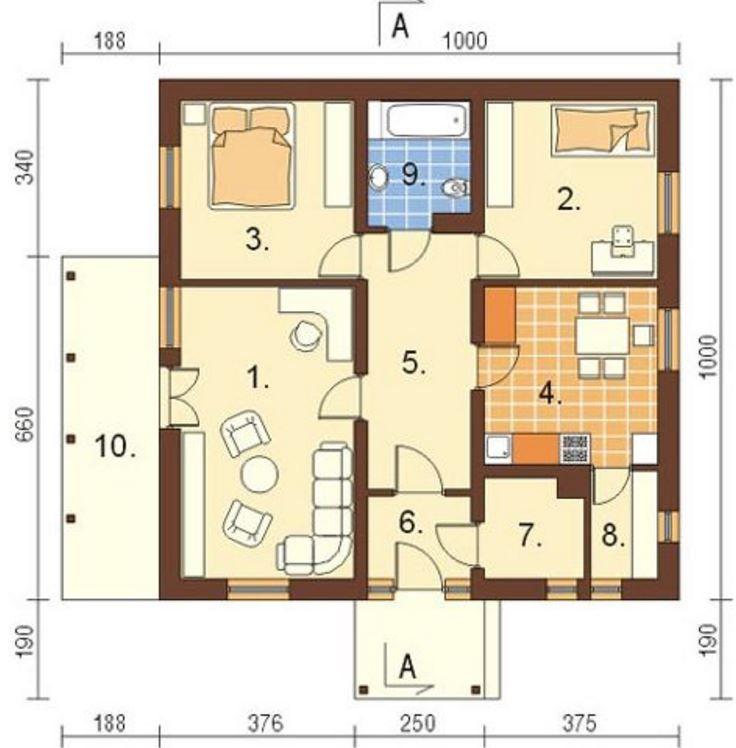planos de casas 10 x 20