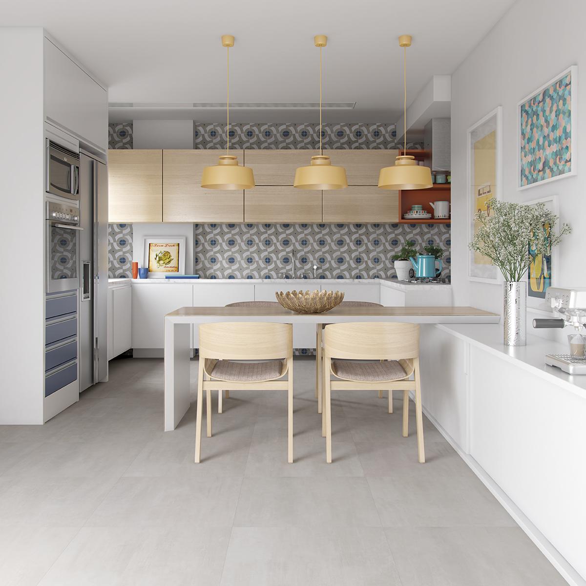 Modern Contemporary Urban Design Kitchen Room Dining: Urban Modern - 60x60 Studio Grigio - 63x63