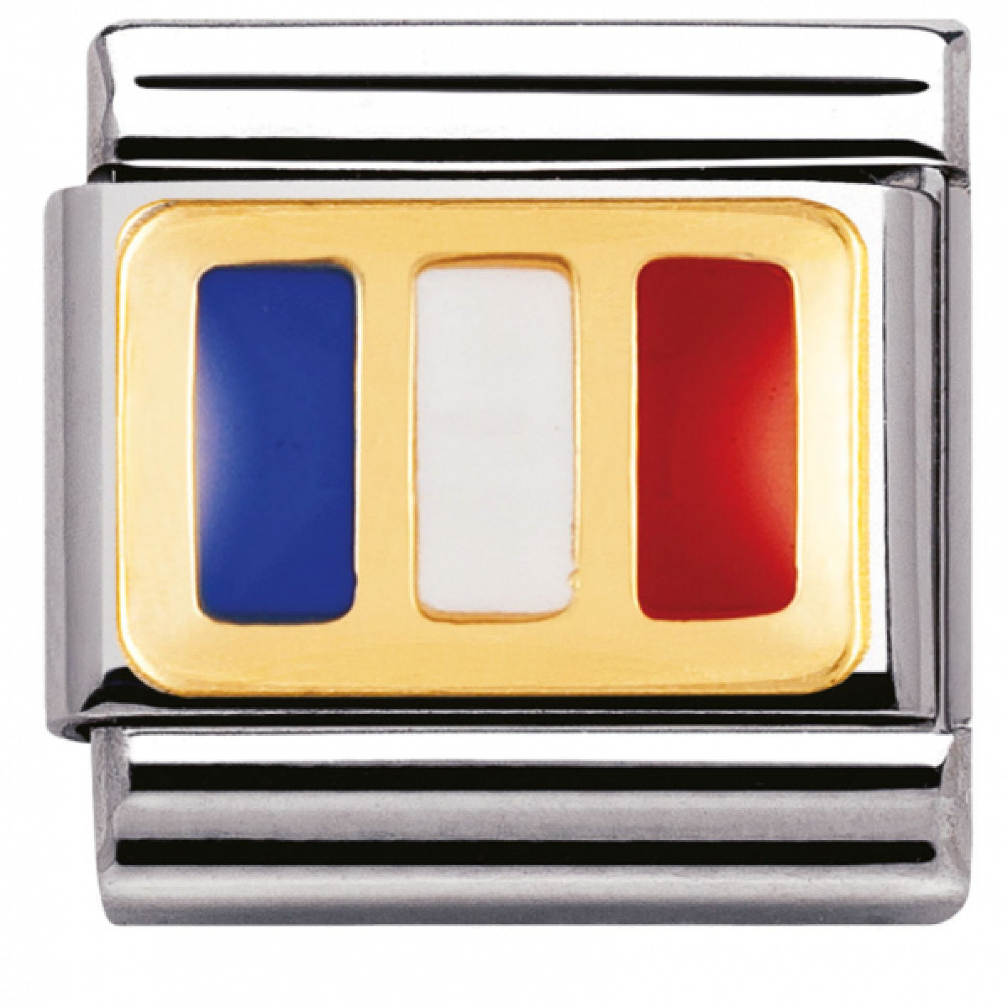 Nomination Composable Classic Letter G Stainless Steel and 18K Gold RNUqSrd4