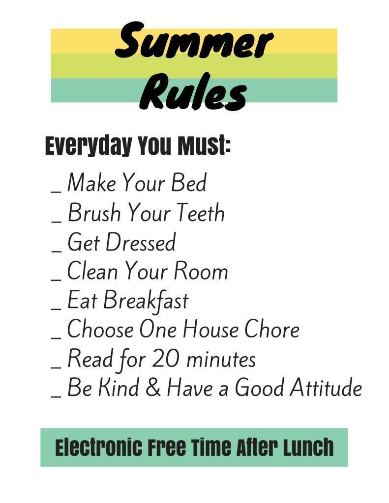 Summer Rules, Behavior Chart, & Schedule for Kids #summerschedule Use this summer schedule and summer rules to help the kids stay on track and keep you sane this summer. #summerschedule Summer Rules, Behavior Chart, & Schedule for Kids #summerschedule Use this summer schedule and summer rules to help the kids stay on track and keep you sane this summer. #summerschedule Summer Rules, Behavior Chart, & Schedule for Kids #summerschedule Use this summer schedule and summer rules to help the kids sta #summerschedule