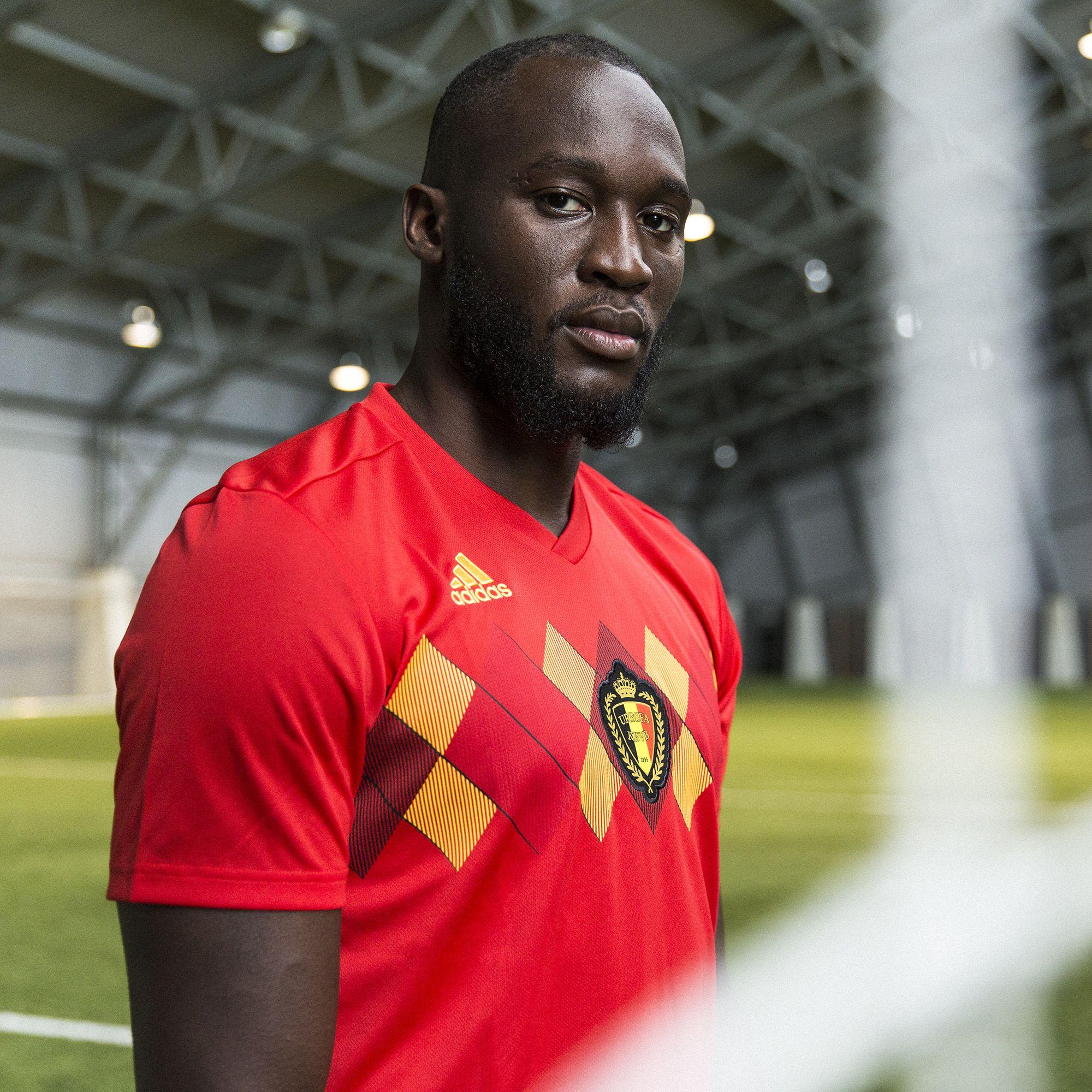 more photos d6fe7 59092 Romelu Lukaku in the adidas 2018 Belgium home jersey | World ...