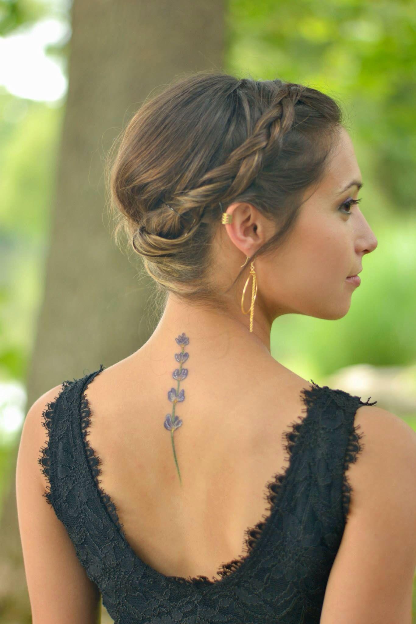 Lavender tattoo. Lavender tattoo, Classy tattoos, Spine