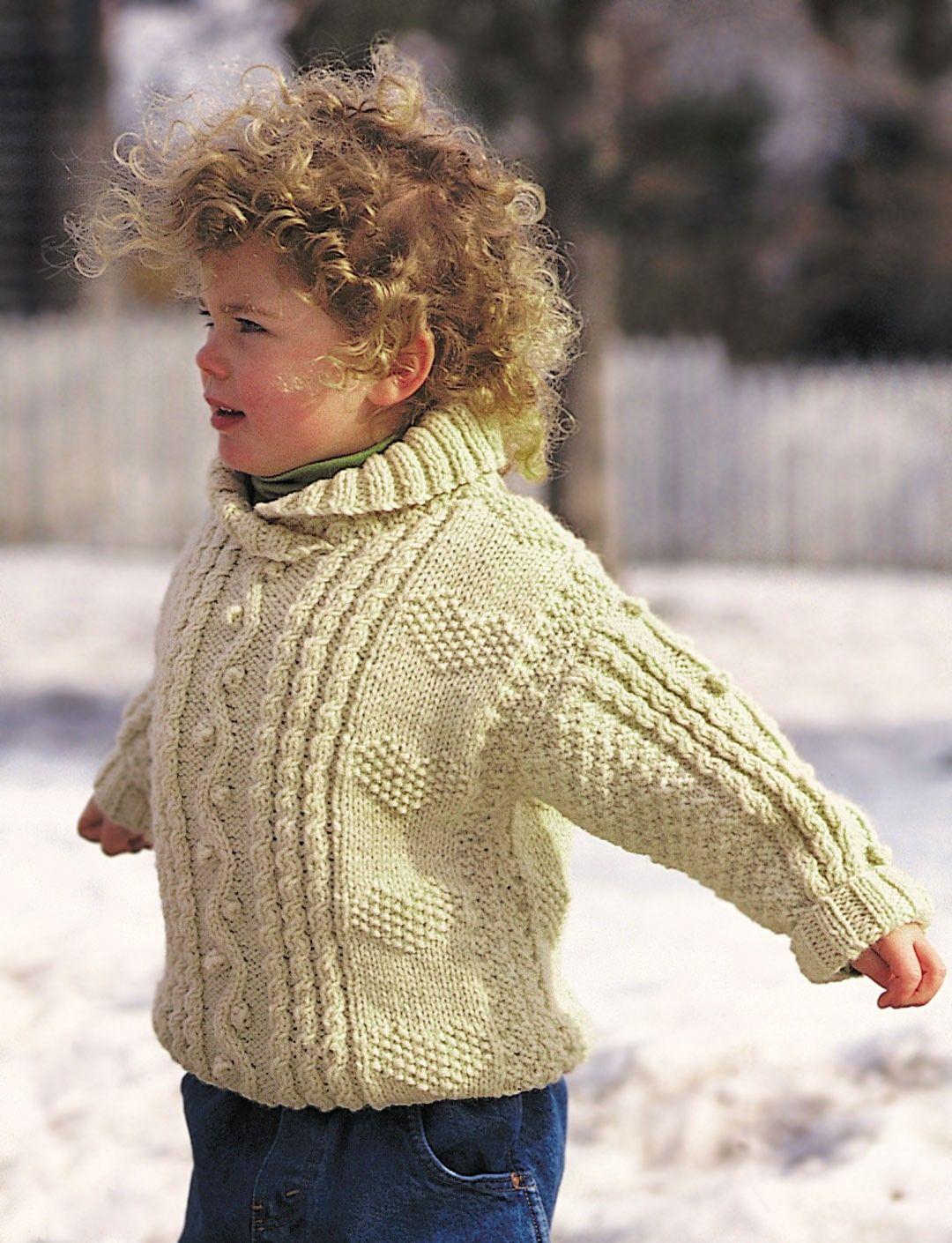FREE PATTERN..Yarnspirations.com - Patons Cables and Hearts Child\'s ...
